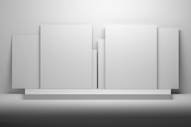 Witte sjablonen voor presentatie mock-up. Premium Foto