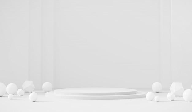 Witte sjabloon productfase huidige achtergrond Premium Foto