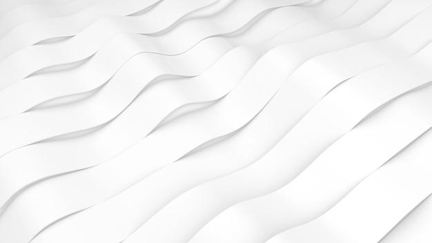 Witte strepen golven oppervlak. vervormde banden oppervlak met zacht licht. moderne lichte achtergrond Gratis Foto