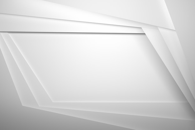 Witte vellenlagen met gearceerde randen en lege ruimte kopiëren voor presentatie in het midden Premium Foto