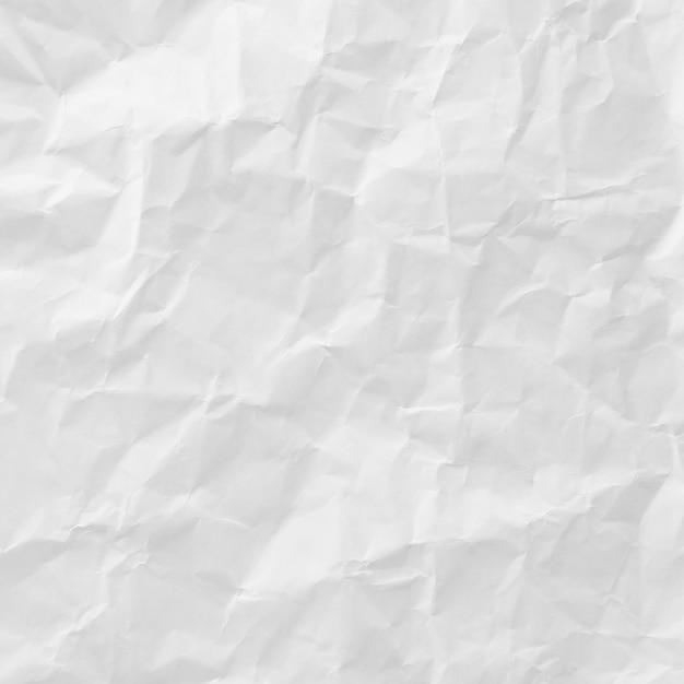 Witte verfrommeld papier textuur voor achtergrond Gratis Foto