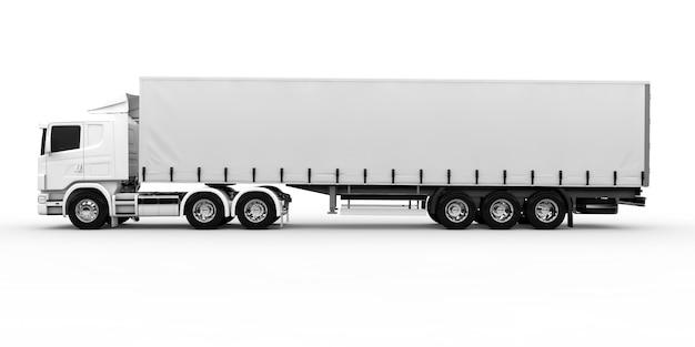 Witte vrachtwagen Premium Foto