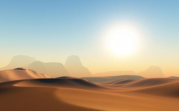 Woestijn met schaduwen Gratis Foto