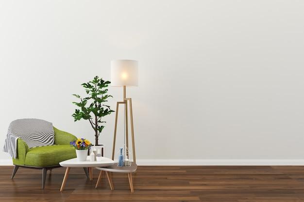 Woonkamer interieur huis vloer sjabloon achtergrond Premium Foto