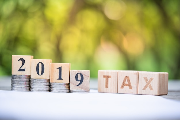 Word block tax 2019 Premium Foto