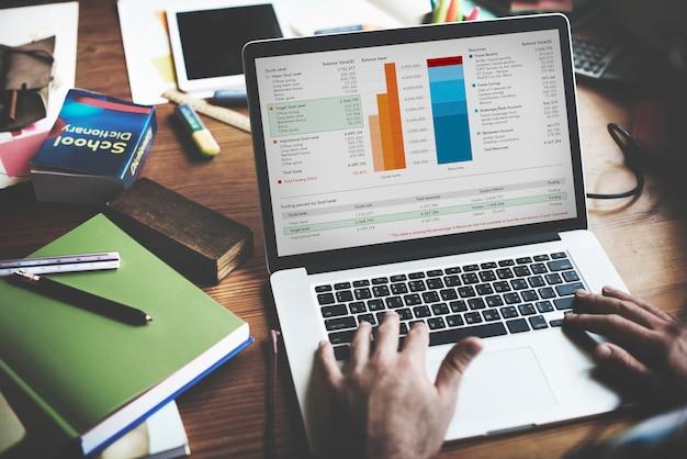 Working finance statistical data analyseer concept Premium Foto
