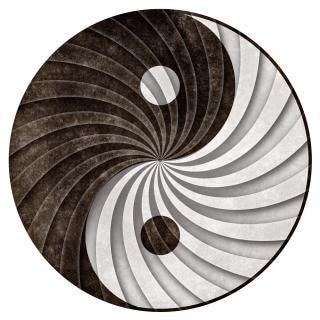 Yin yang grunge cyclus Gratis Foto