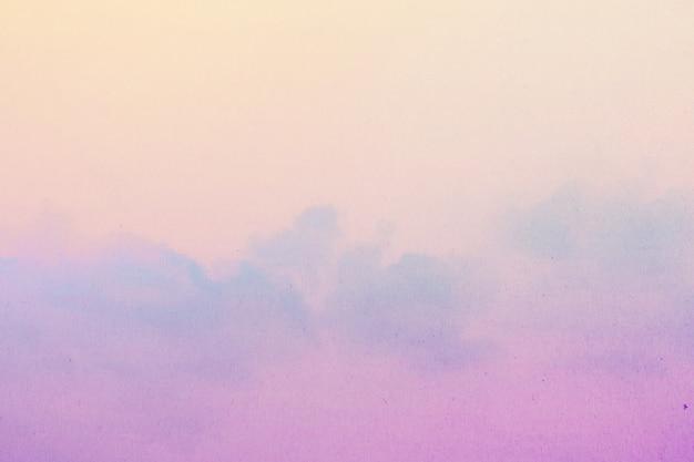 Zacht bewolkt is gradiëntpastelkleur, abstracte hemelachtergrond in zoete kleur. Premium Foto