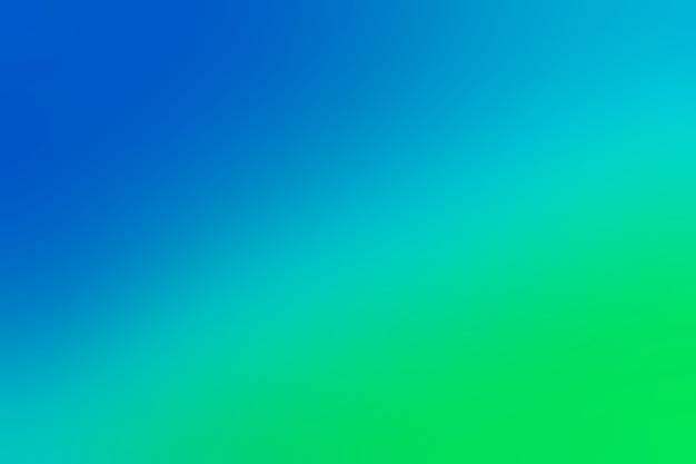 Zachte overgang op blauw in groen Gratis Foto