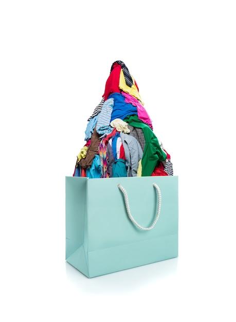 Zak vol kleren Premium Foto