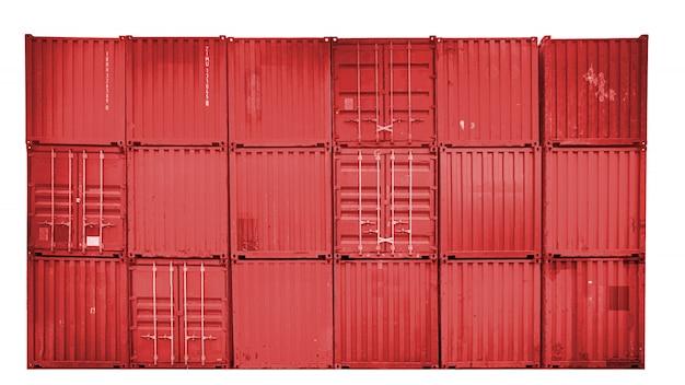 Zakelijk en logistiek. goederenvervoer en opslag. apparatuurcontainers verzenden. Premium Foto