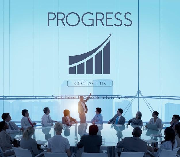 Zakelijk succes verslag grafiek concept Gratis Foto