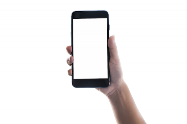 Zakelijk werken met moderne apparaten, digitale computer en mobiele telefoon Premium Foto