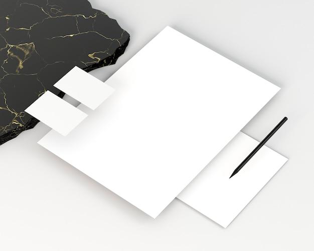 Zakelijke briefpapier kopie ruimte documenten Gratis Foto