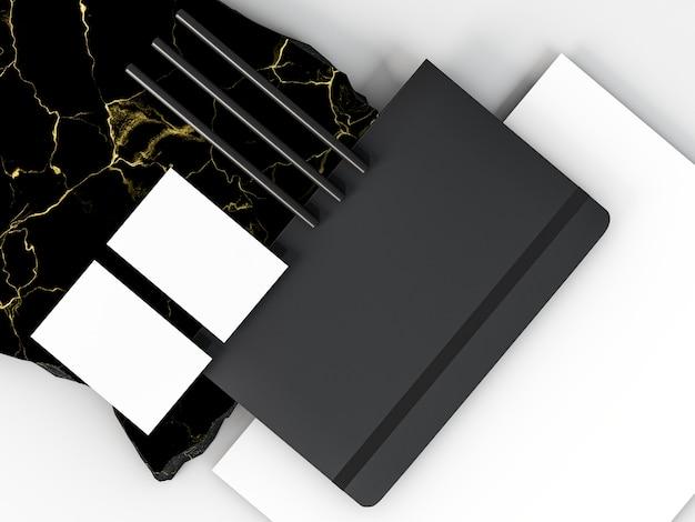 Zakelijke briefpapier regeling kopie ruimte en notebook Gratis Foto