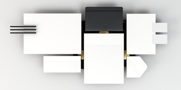 Zakelijke briefpapier regeling kopie ruimte plat leggen Gratis Foto