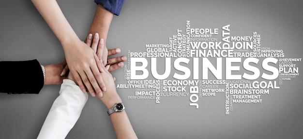 Zakelijke handel financiën en marketing concept. Premium Foto