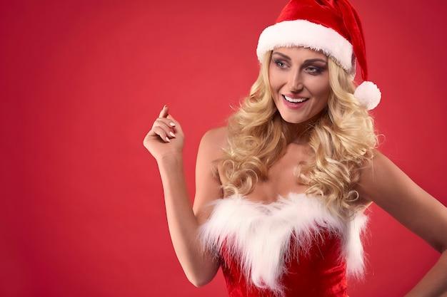 Ze is misschien de vriendin van een kerstman Gratis Foto