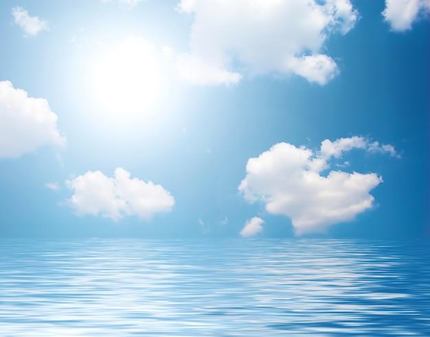 Zee met wolken Gratis Foto