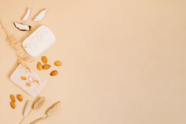 Zeeprepen van amandel en kokosnoot Gratis Foto