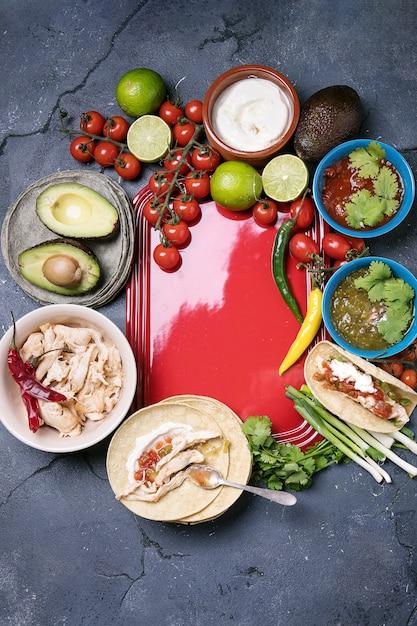 Zelfgemaakte tortilla's Premium Foto