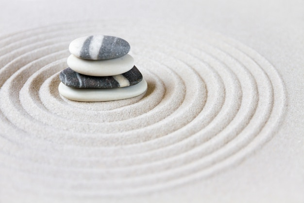 Zen japanse tuin Premium Foto
