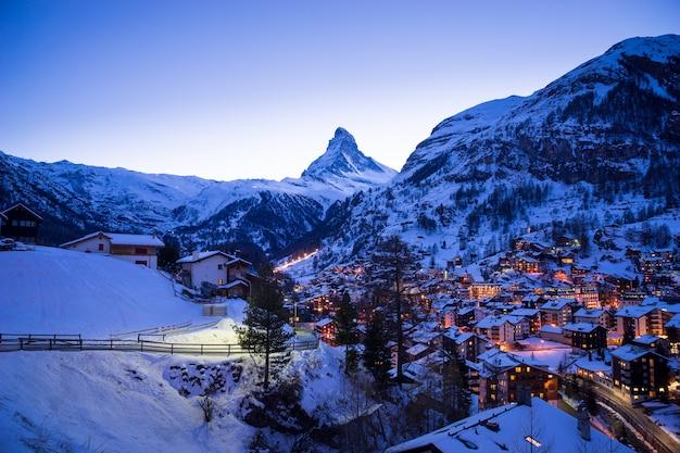 Zermatt, zwitserland, matterhorn, skigebied Premium Foto