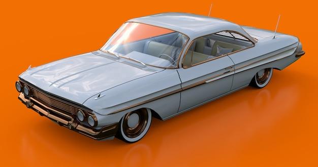 Zet oude amerikaanse auto in uitstekende staat Premium Foto