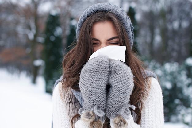 Ziekte in de winter is erg populair Gratis Foto