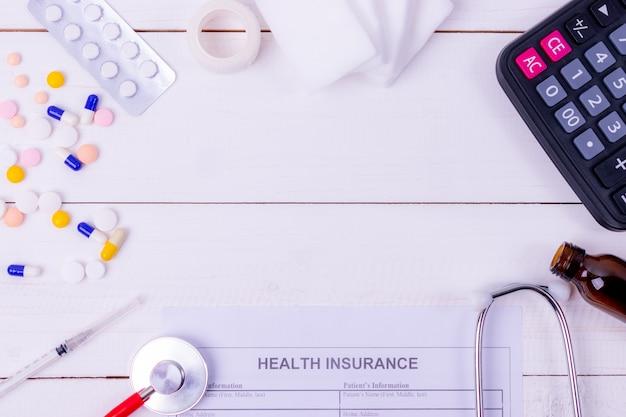Ziektekostenverzekering en medisch concept Premium Foto