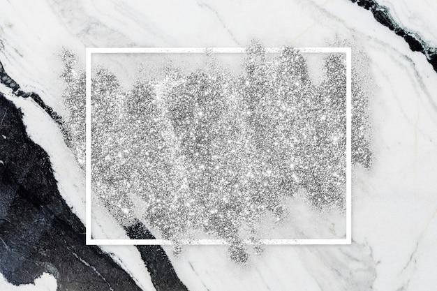 Zilveren glittervlek Gratis Foto