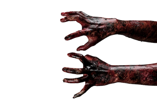 Zombie hand. halloween thema concept. Gratis Foto