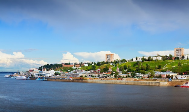 Zomer uitzicht op nizjni novgorod. rusland Gratis Foto
