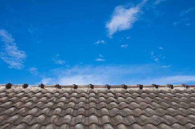 Zon schemering lucht blauwe achtergrond Gratis Foto