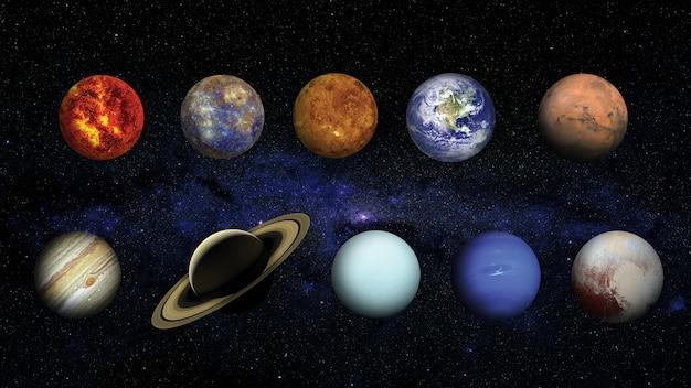 Zonnestelsel. elementen van deze afbeelding geleverd door nasa Premium Foto