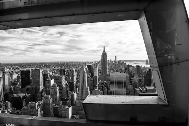 Zwart en wit op new york Premium Foto