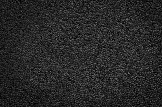 Zwart leer en textuurachtergrond Premium Foto