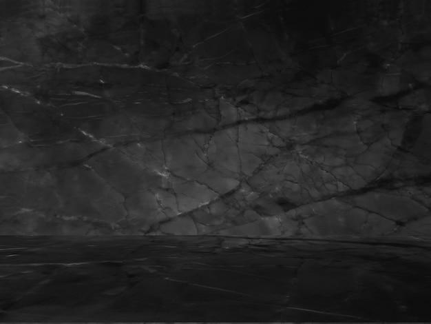 Zwart marmer natuurlijk patroon voor achtergrond, abstract zwart en wit. Gratis Foto