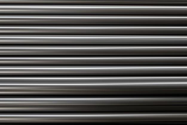 Zwart metalen buisstalen soort gestapeld Premium Foto