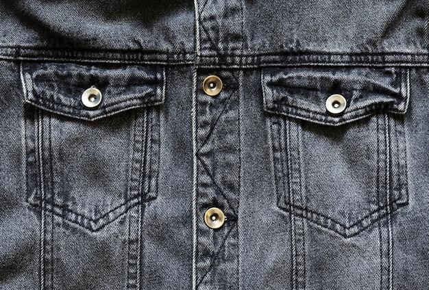 Zwart spijkerjack Premium Foto