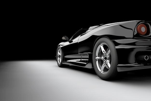 Zwarte auto Premium Foto