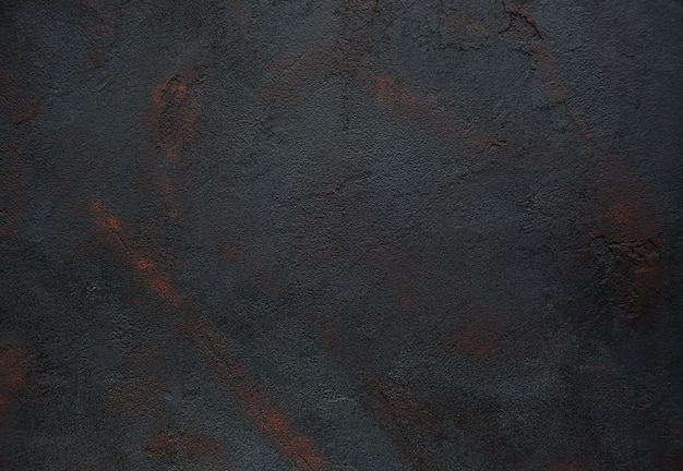Zwarte concrete textuur geroeste abstracte achtergrond Premium Foto
