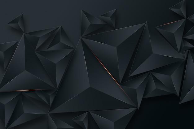 Zwarte creatieve achtergrond Premium Foto