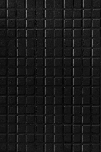 Zwarte keramische tegel baksteen abstracte mozaïek achtergrondstructuur Premium Foto