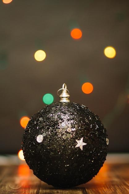 Zwarte kerstbal Gratis Foto