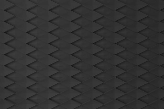 Zwarte ruit 3d muur voor achtergrond, achtergrond of behang Premium Foto