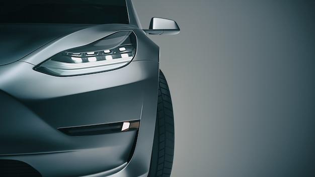 Zwarte sportwagen. 3d-rendering en illustratie Premium Foto