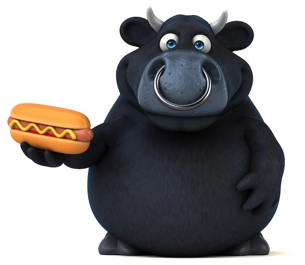 Zwarte stier illustratie Premium Foto