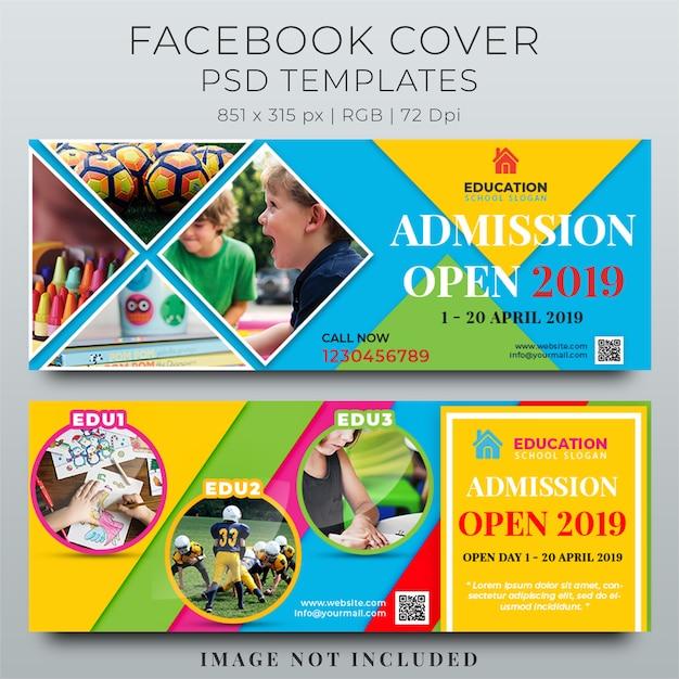 Facebook voorbladsjabloon Premium Psd