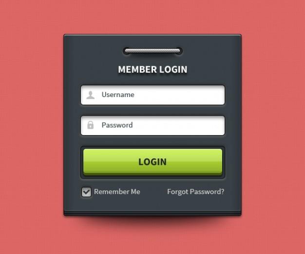 Login doos met gebruikersnaam en wachtwoord PSD Bestanden   Gratis Download